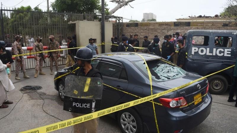 Atac terorist la bursa din Pakistan