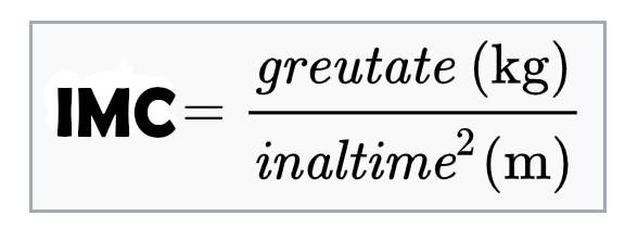 Cum se calculeaza IMC