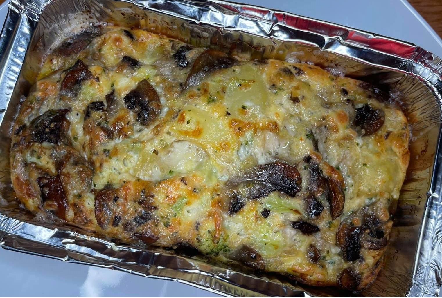 sufleu de legume cu branza broccoli ciuperci cartofi